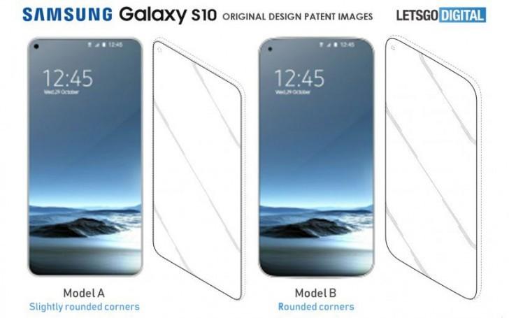 samsung galaxy s10 alleged designs