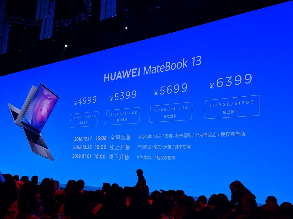 huawei matebook 13 pricing