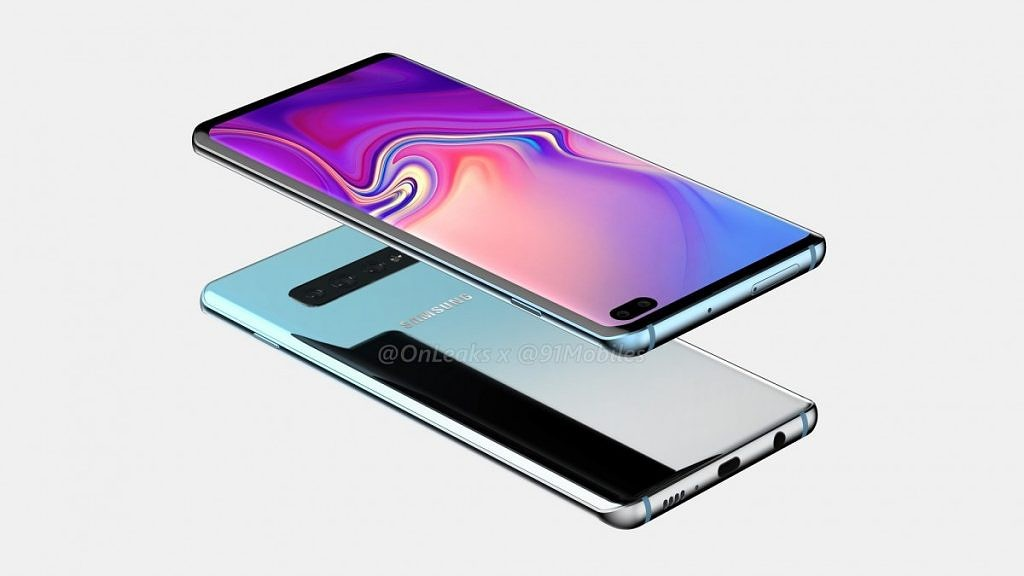 samsung galaxy s10 plus rumored design