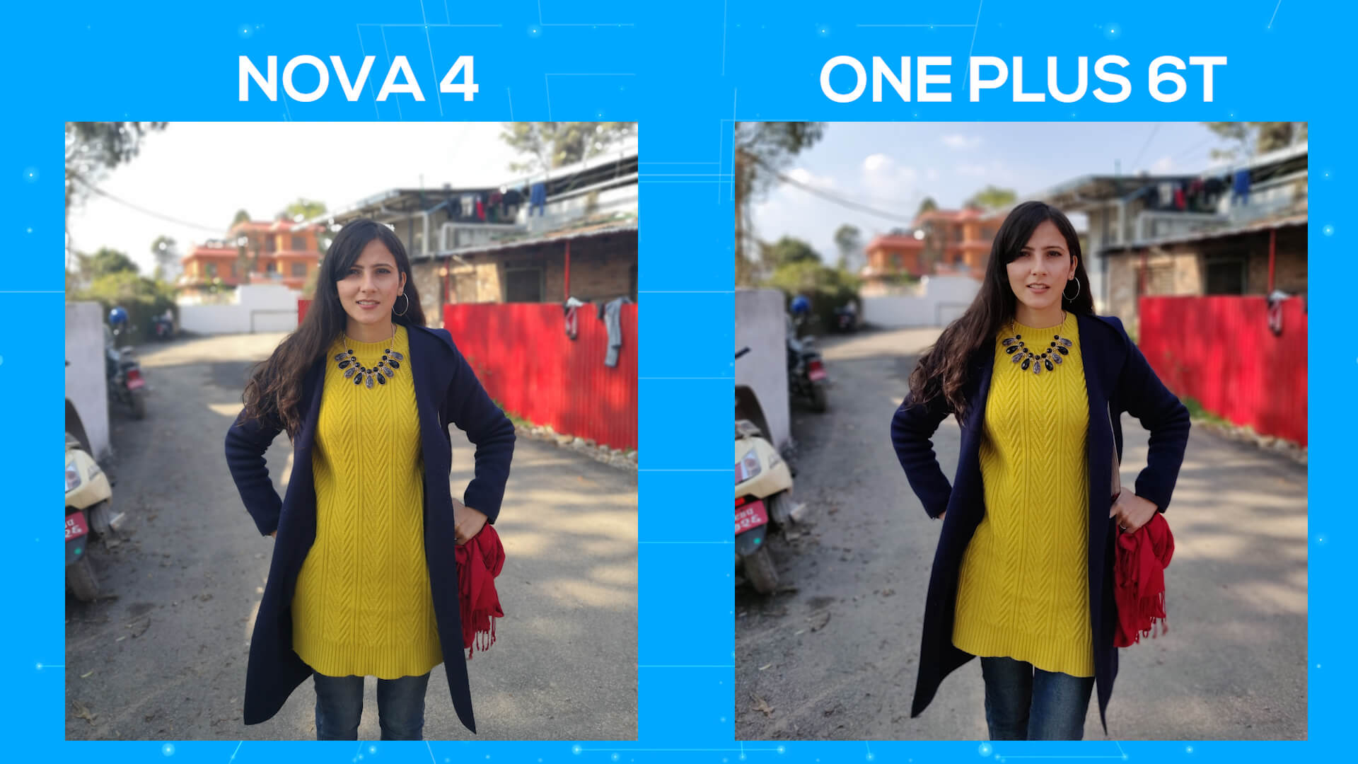 Huawei Nova 4 vs OnePlus 6T camera comparison day portrait