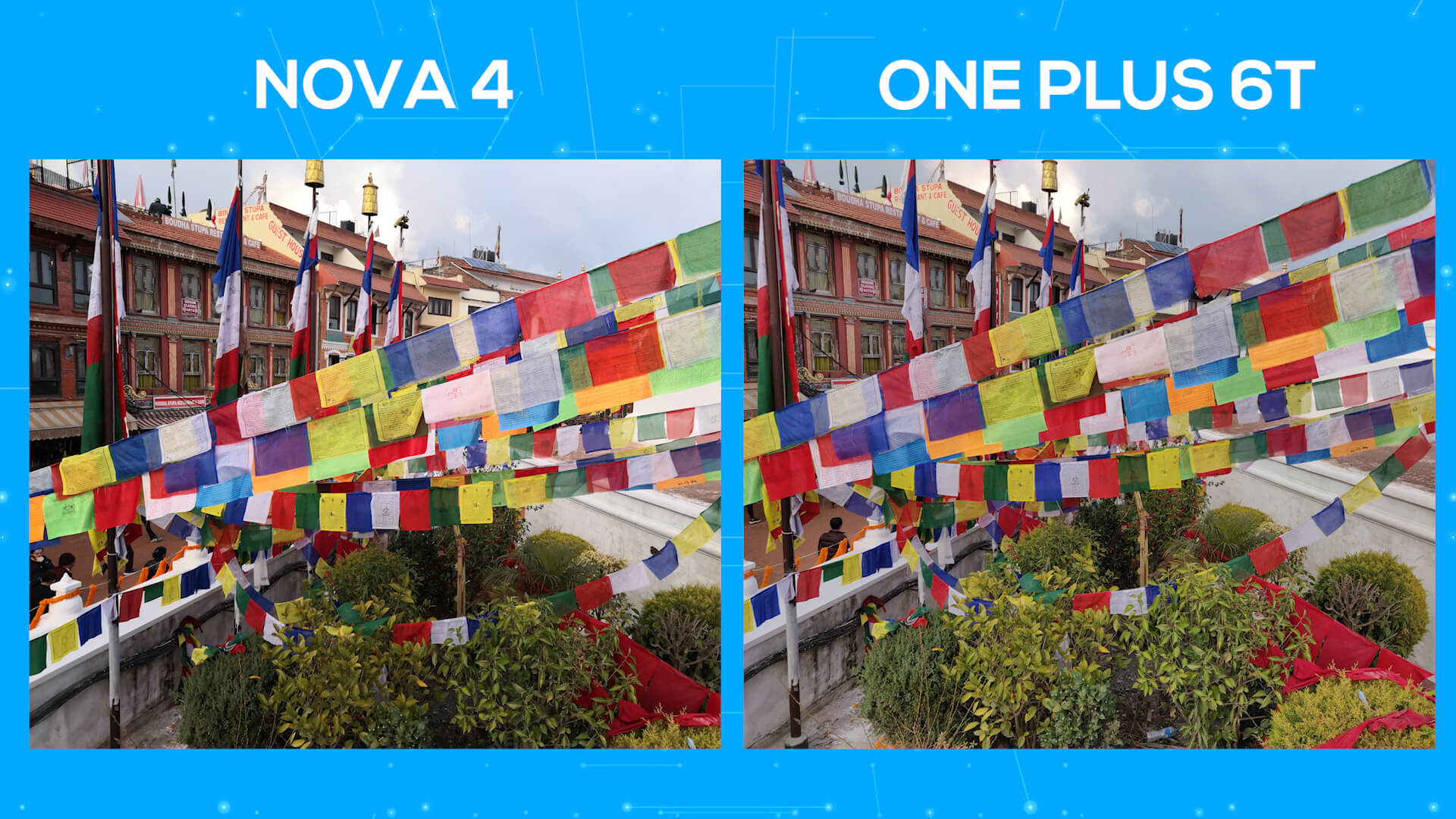 Huawei Nova 4 vs OnePlus 6T camera comparison day saturation