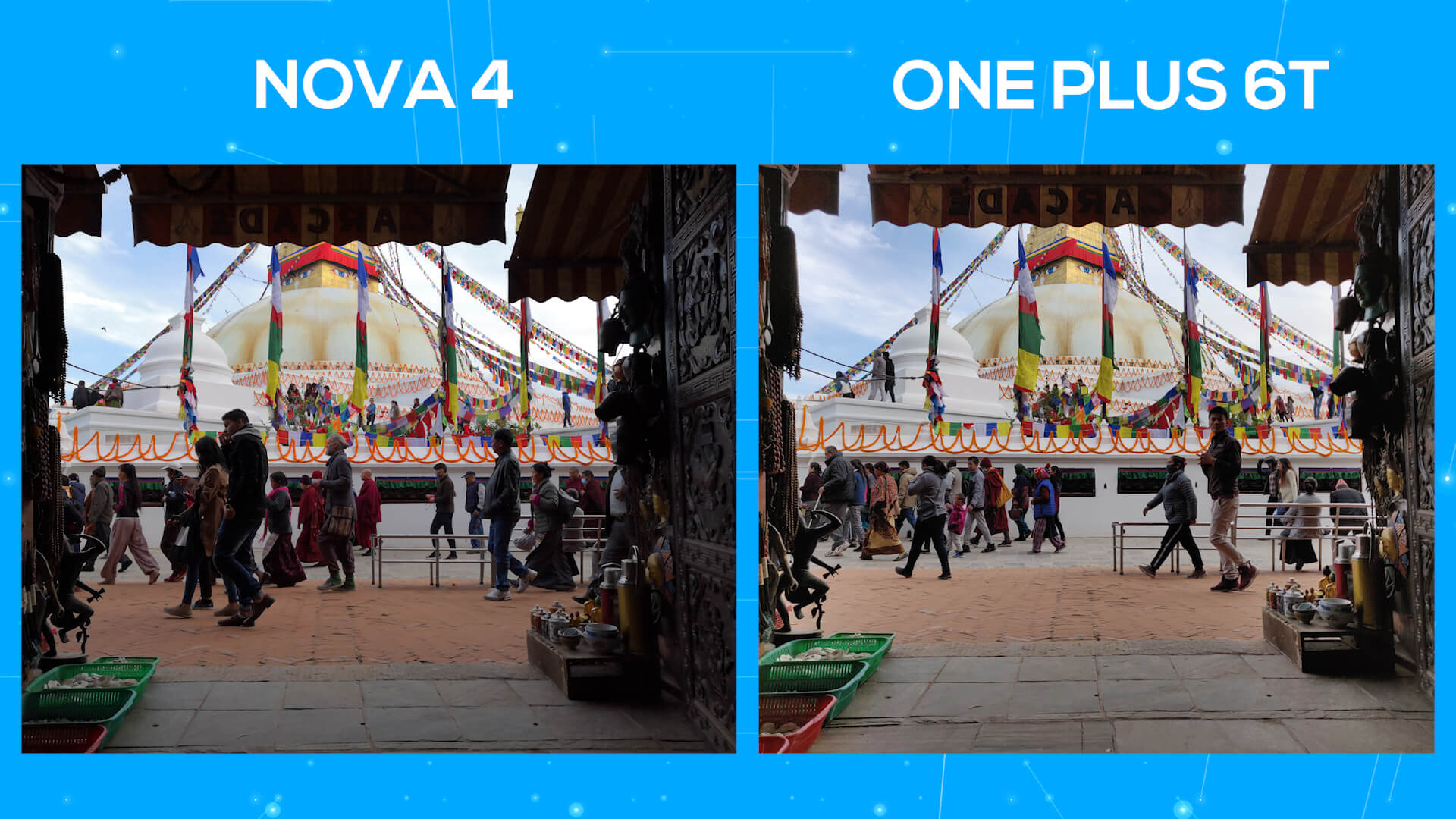 Huawei Nova 4 vs OnePlus 6T camera comparison dynamic range 1