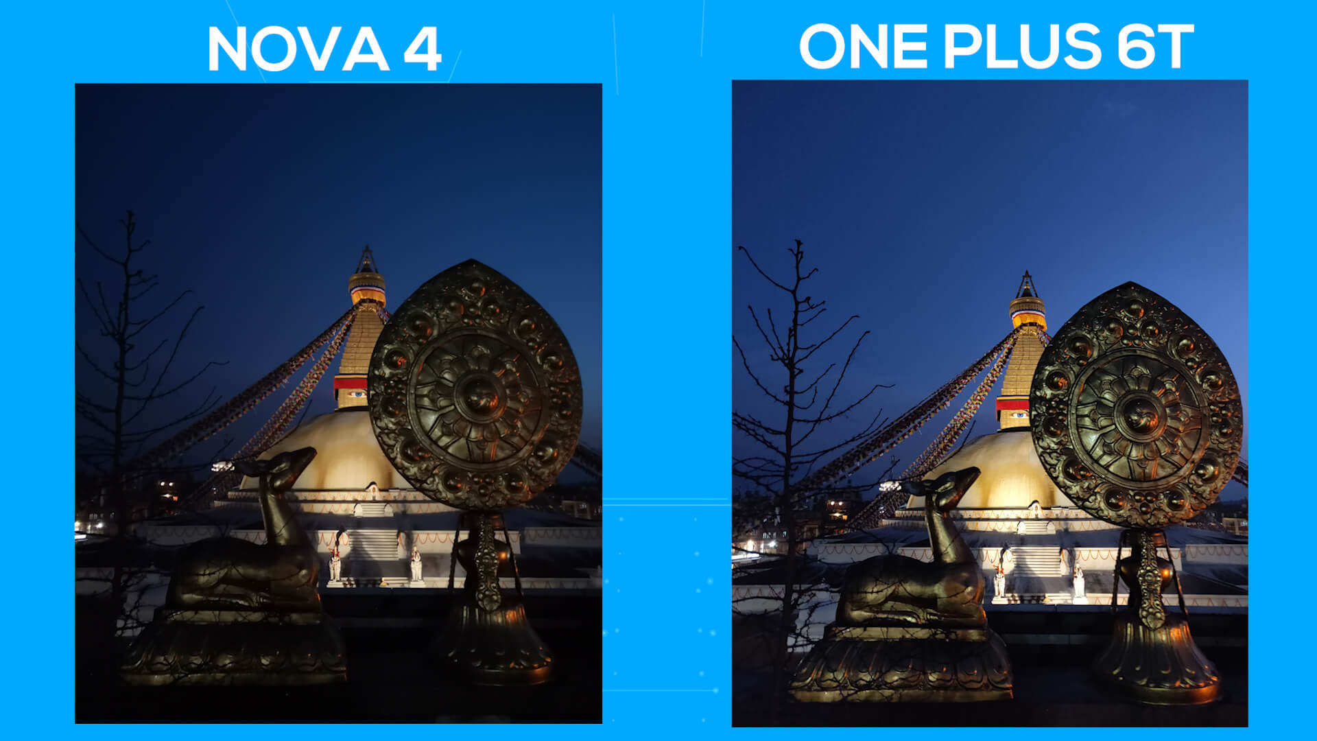 Huawei Nova 4 vs OnePlus 6T camera comparison night 1