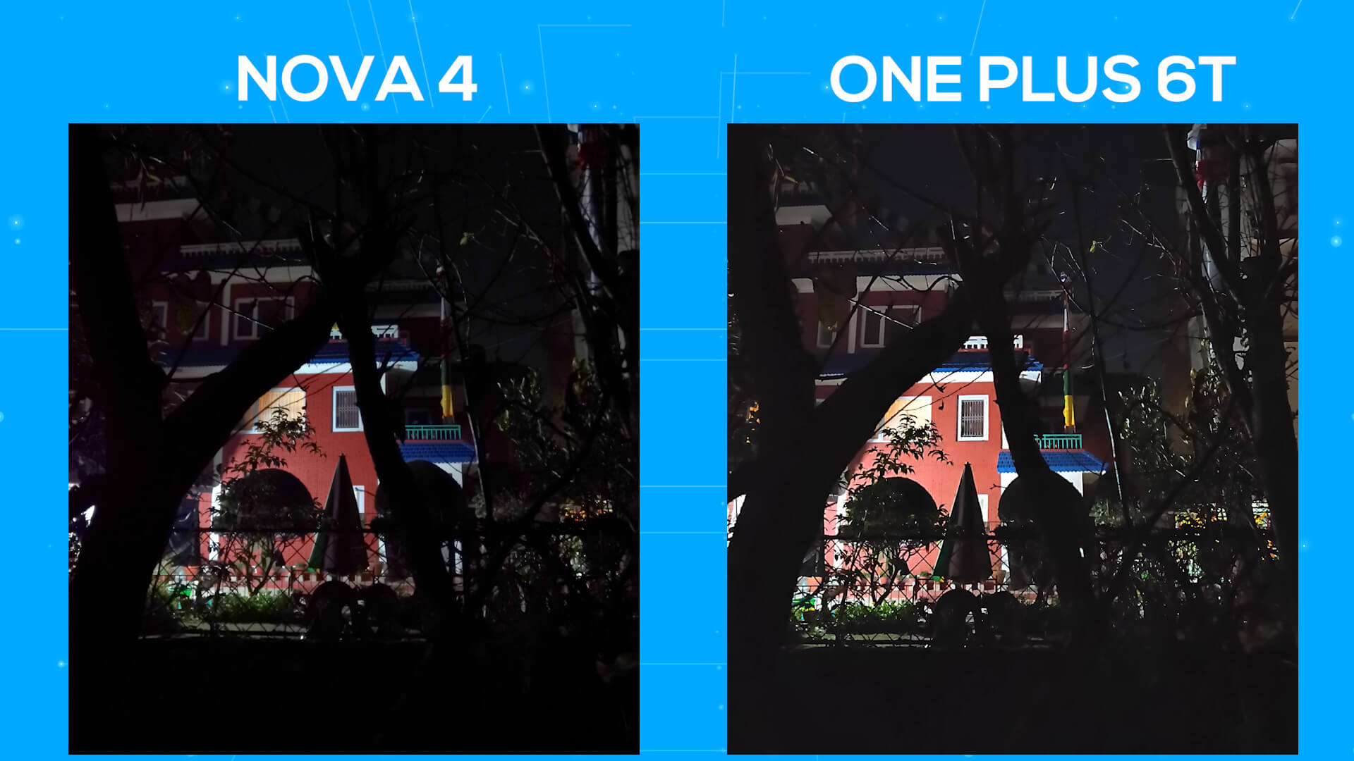 Huawei Nova 4 vs OnePlus 6T camera comparison night mode