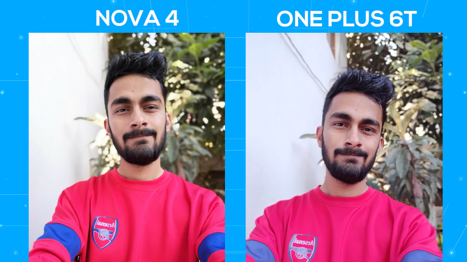 Huawei Nova 4 vs OnePlus 6T camera comparison portrait selfie