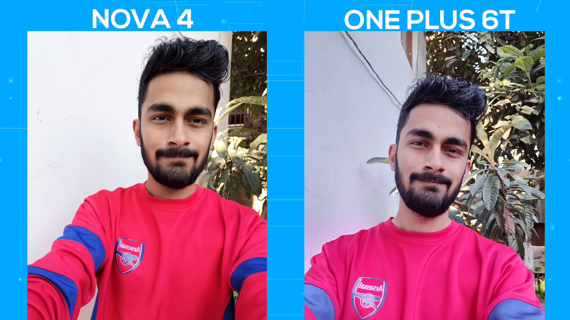 Huawei Nova 4 vs OnePlus 6T camera comparison selfie