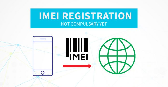 Mobiles phones IMEI registration