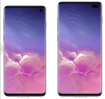Samsung Galaxy S10 and S10+ front