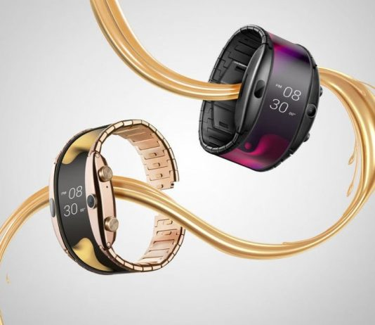 nubia alpha flexible smartwatch