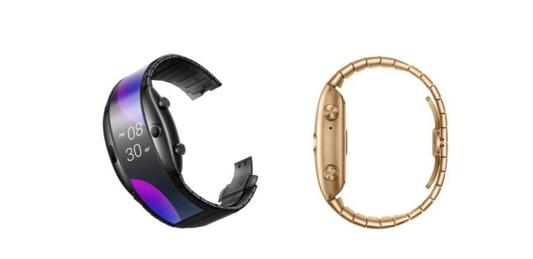 nubia alpha flexible smartwatch colors