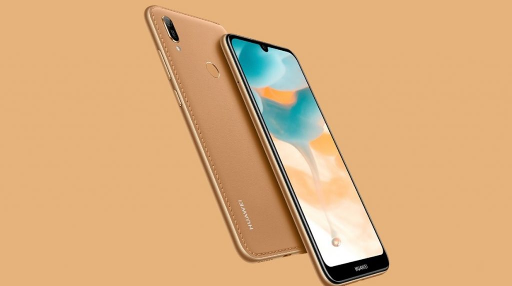 Huawei Y6 2019 Amber Brown flux leather