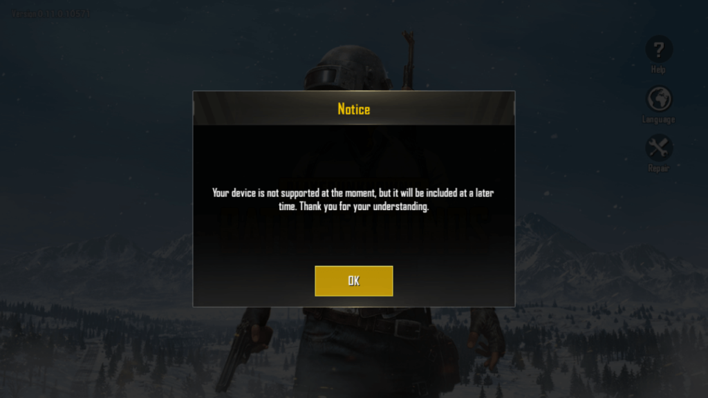 PUBG not working