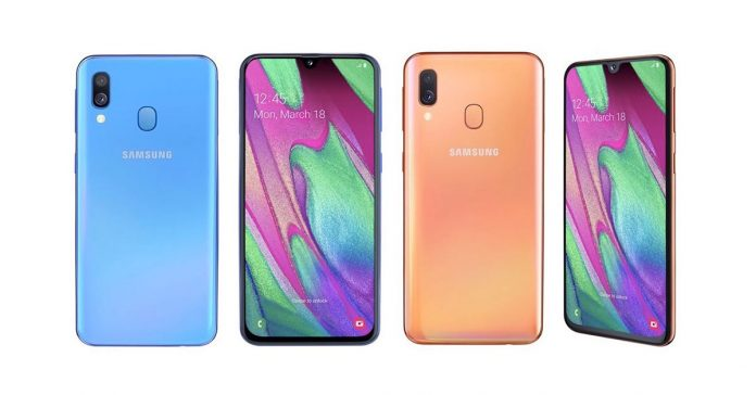 samsung galaxy a40 launched