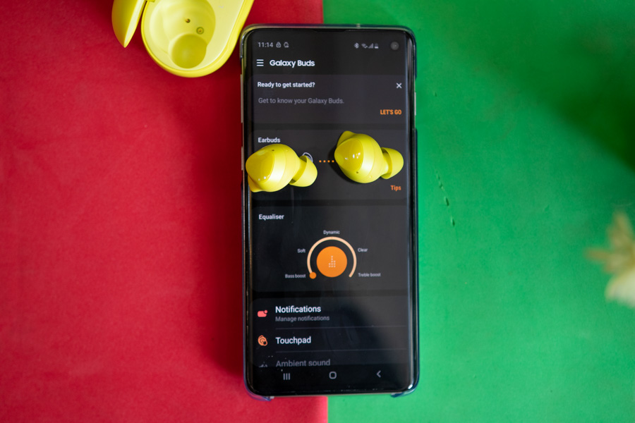 Samsung Galaxy Buds Galaxy Wearable App