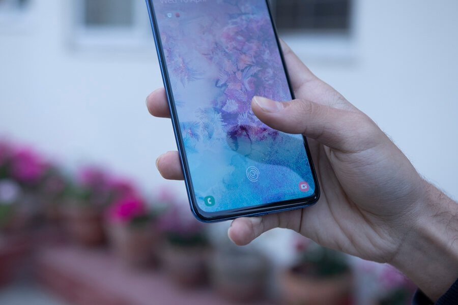 samsung galaxy a70 fingerprint scanner