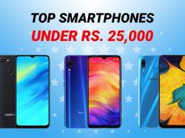 top smartphones under 25000 nepal