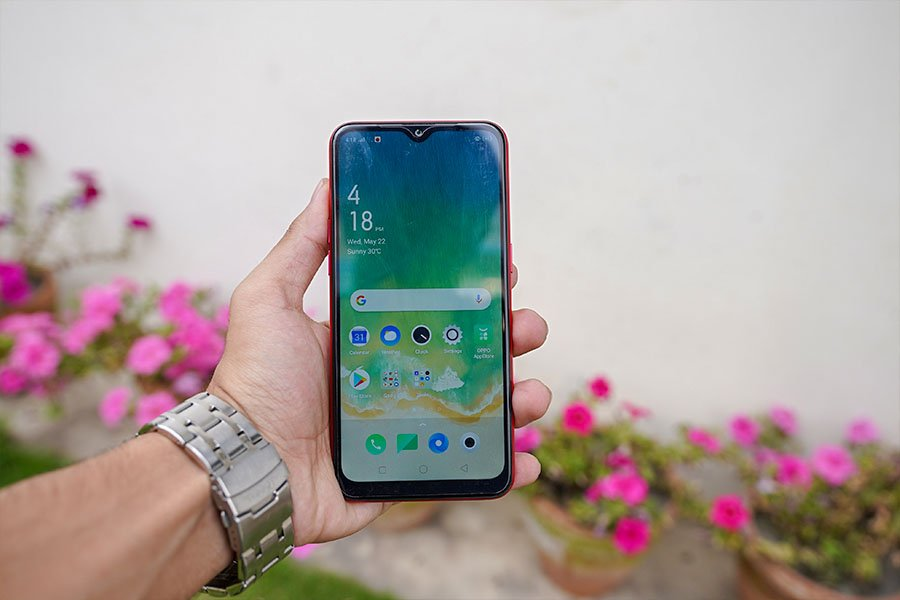 OPPO A1K display