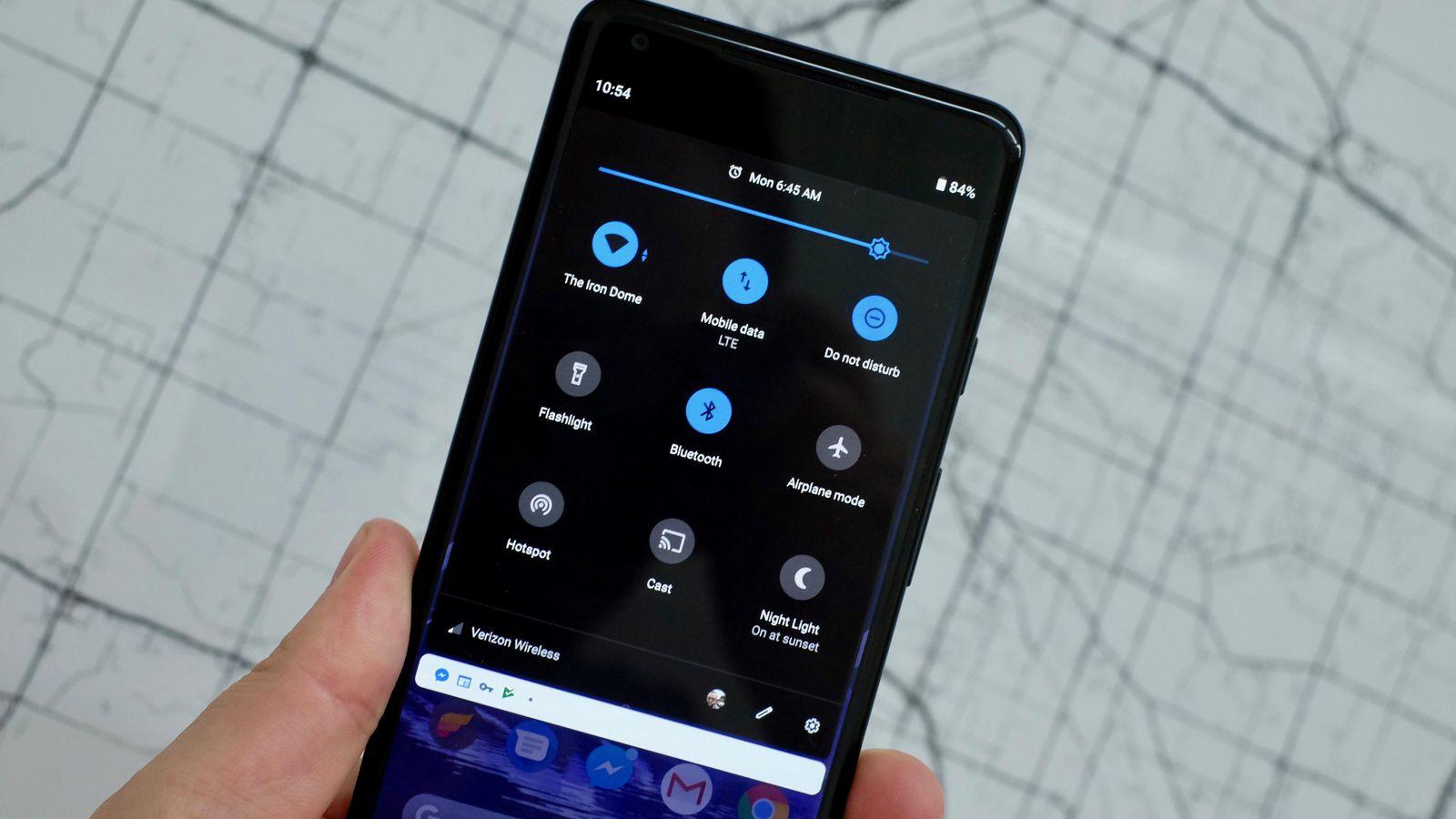 android q - dark mode