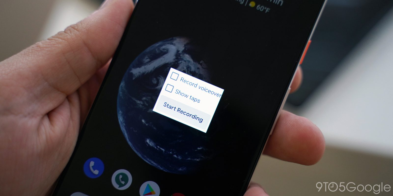 android q - screen record