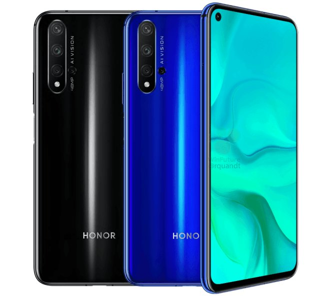 honor 20 display design