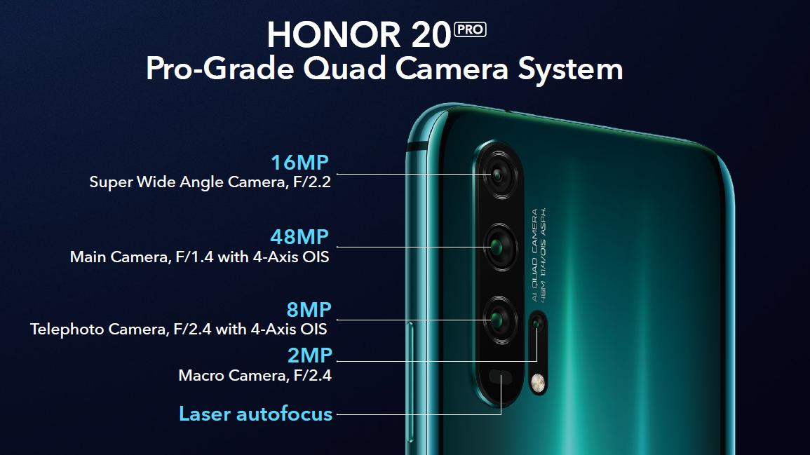 honor 20 pro camera setup