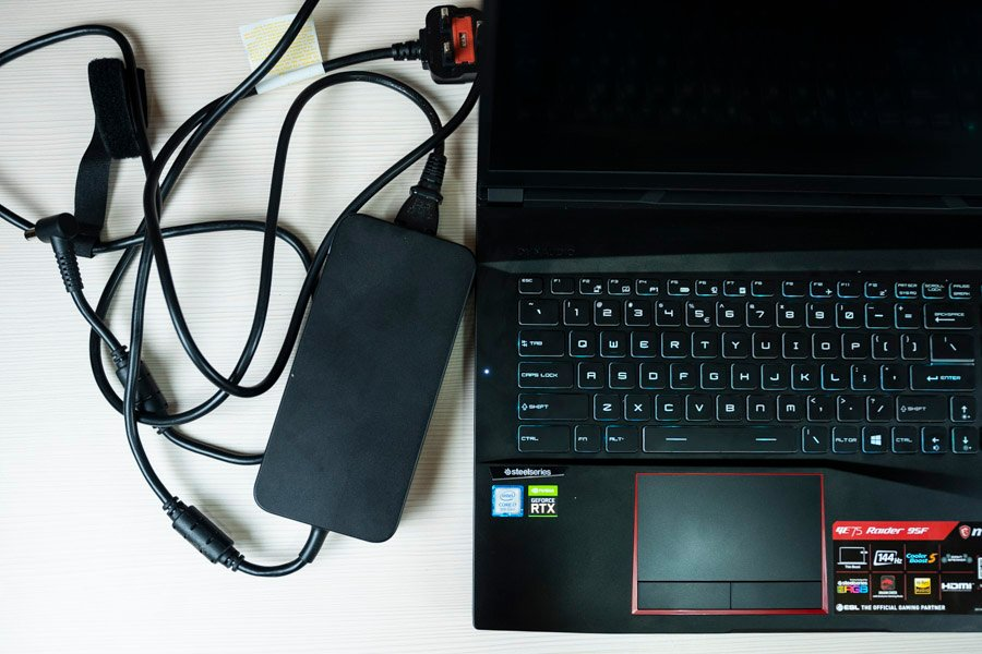 msi ge75 raider 9sf charging adapter