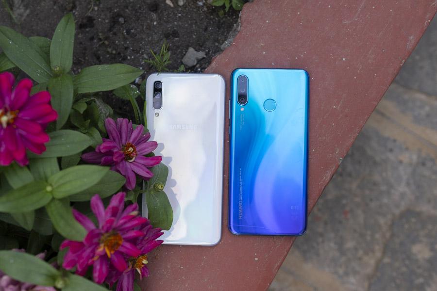 Samsung Galaxy A50 VS Huawei P30 Lite fingerprint sensor
