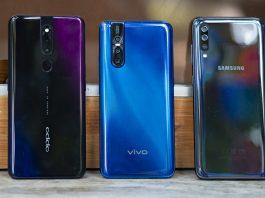 Samsung Galaxy A70 vs Vivo V15 Pro vs Oppo F11 Pro