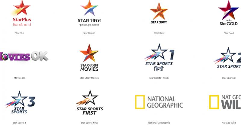 Few channels under the Star TV Network