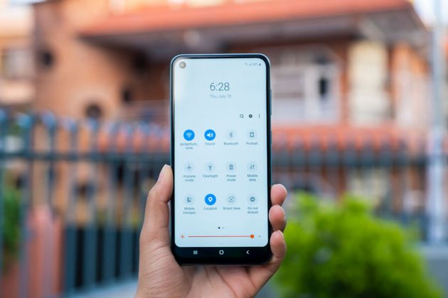 samsung galaxy m40 quick toggle menu