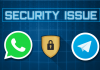 whatsapp telegram security issue