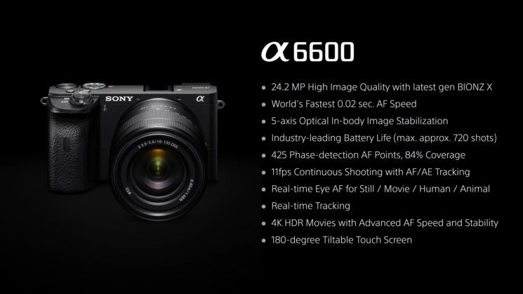 sony a6600 specs
