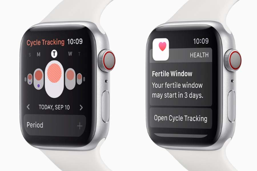 Apple Watch Series 5 Cycle Tracking health