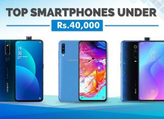 top smartphones under 40000 nepal 2019