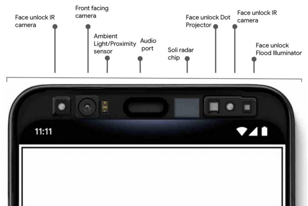 Google Pixel 4 sensors