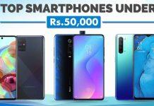 Top Smartphones under Rs. 50000 in Nepal best phones 50K xiaomi redmi samsung oppo vivo huawei