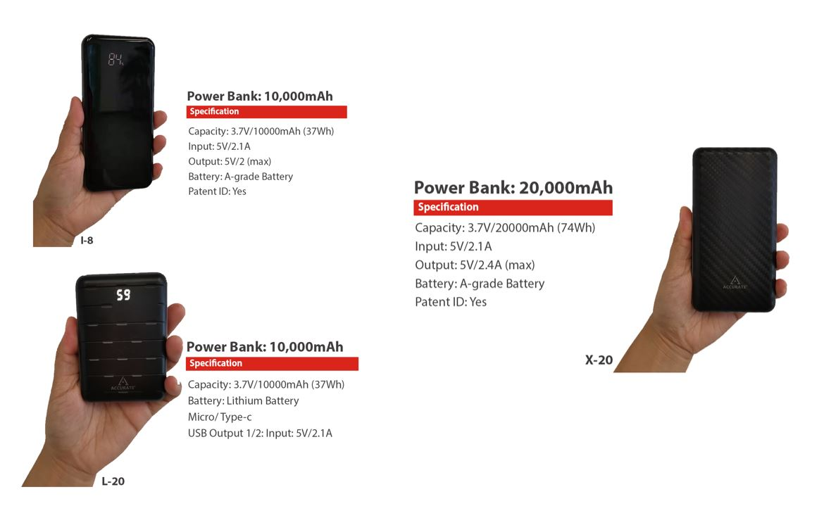 Accurate Powerbanks Price Nepal specifications features