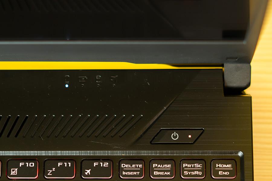 ASUS TUF FX505 LED indicator