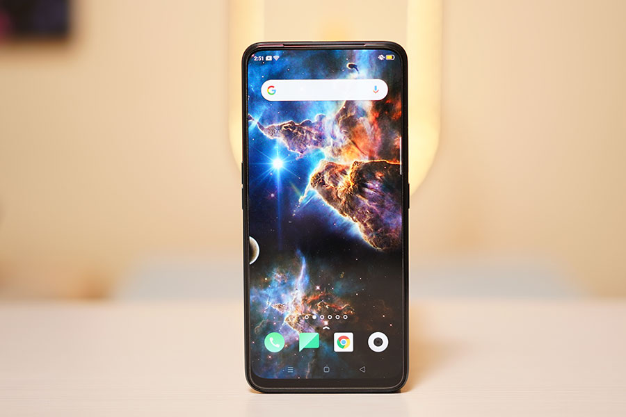 oppo reno2 f display review bezelless