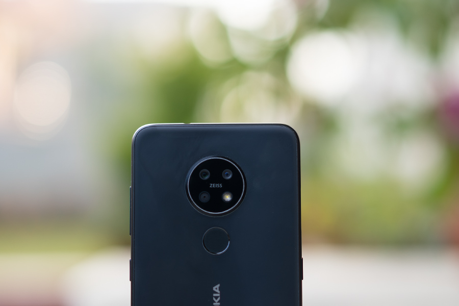 nokia 7.2 zeiss optics triple rear back camera led flash