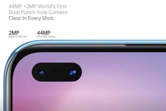 OPPO Reno3 Pro dual punch-hole camera