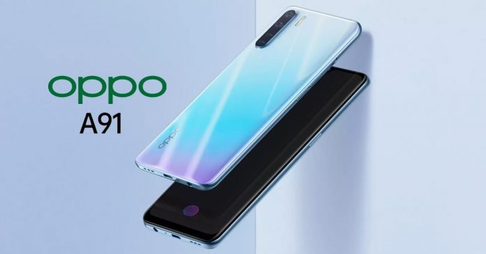 Oppo A91 design colors camera launched in China
