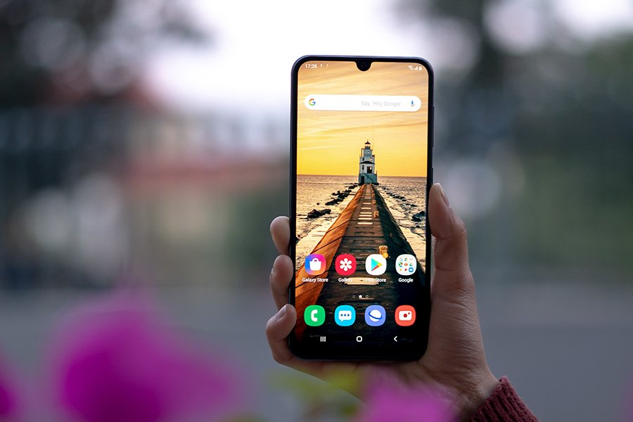 samsung galaxy a50s display front