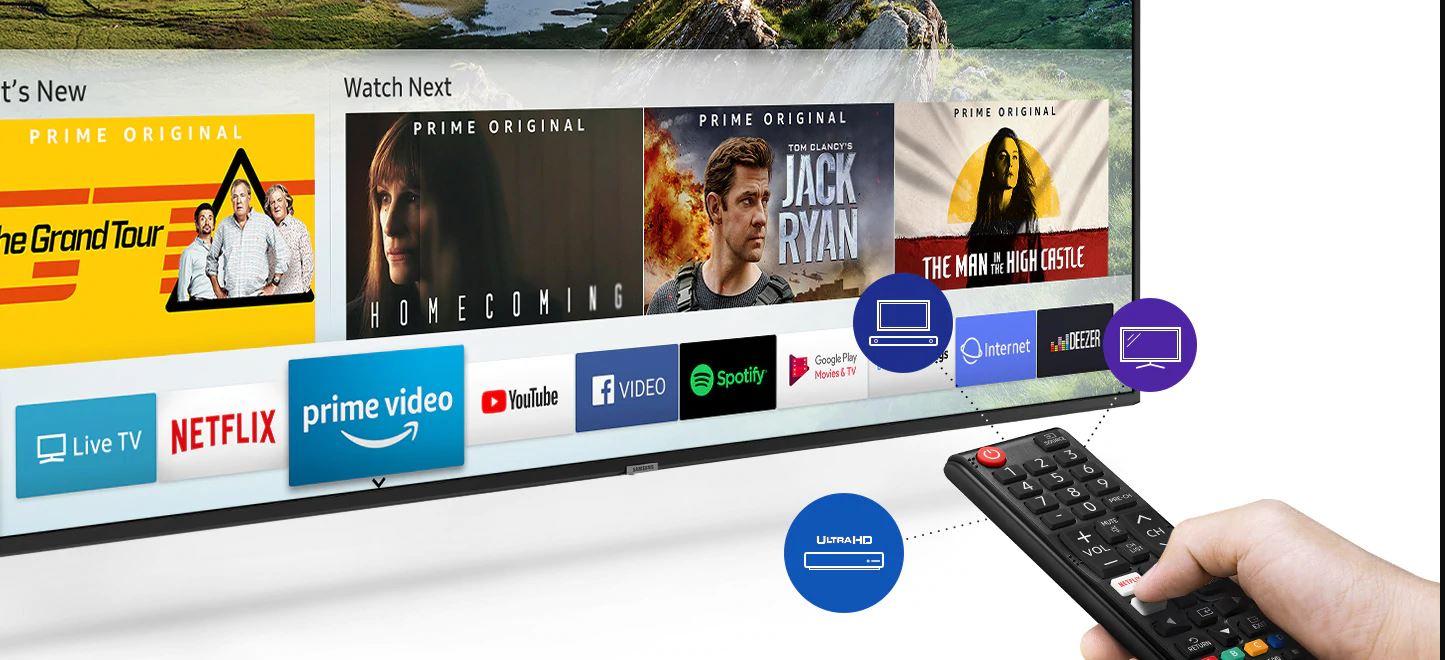 Samsung UA55RU7100R TV remote user interface