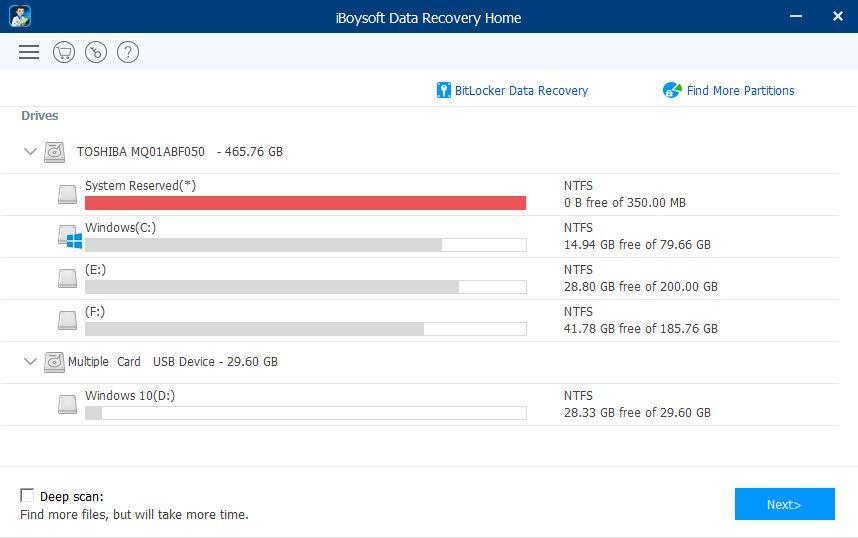 iBoysoft Data Recovery UI