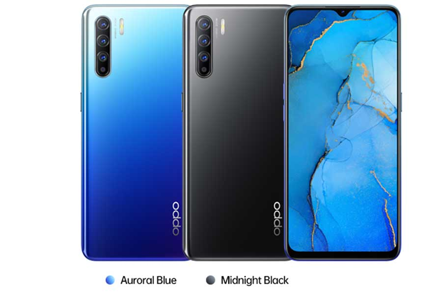 oppo reno 3 color options