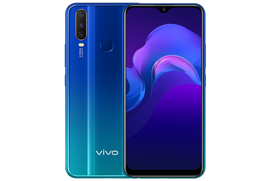 vivo y15 design display front back