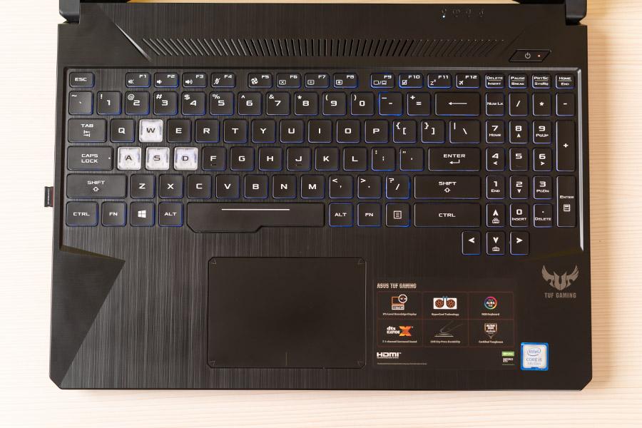 ASUS TUF FX505GT keyboard