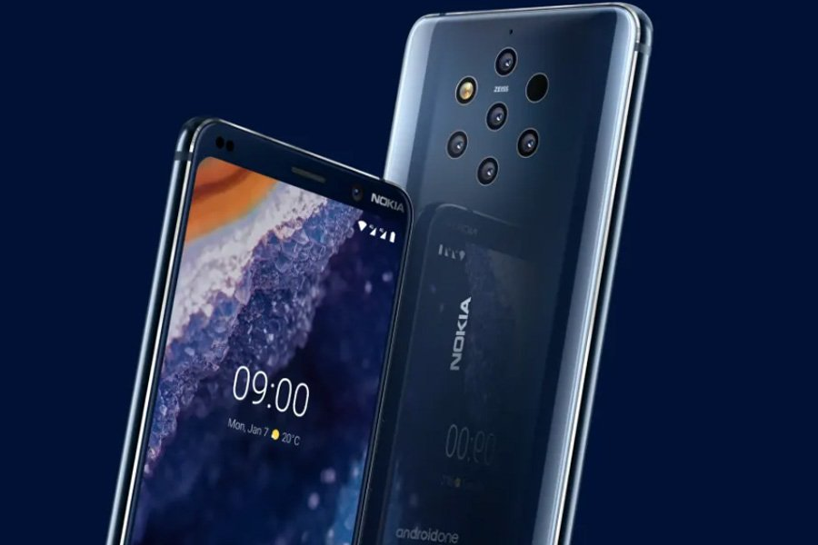 Nokia 9 PureView Front and Back design