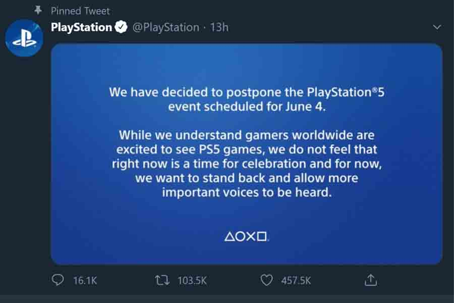 PlayStation postpones June 5 event